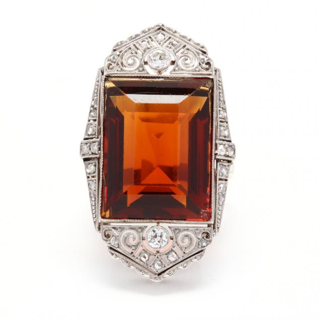 white-gold-citrine-and-diamond-ring
