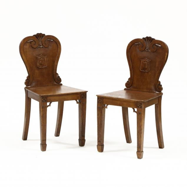 pair-of-vintage-english-carved-heraldic-side-chairs