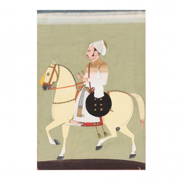 an-indian-painting-of-equestrian-nobleman-on-horseback