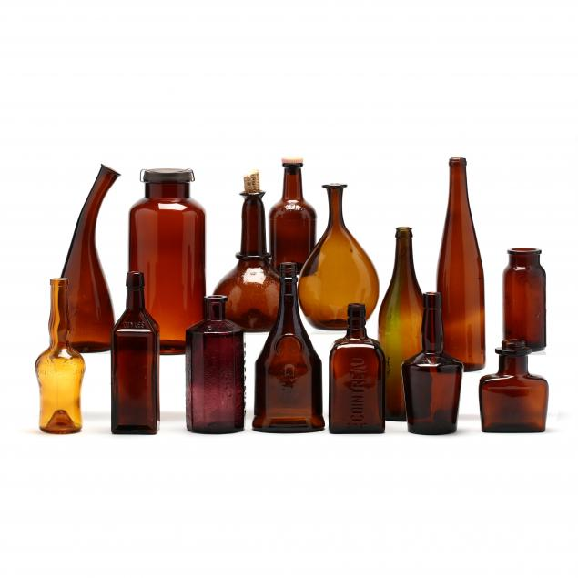 fifteen-brown-glass-containers
