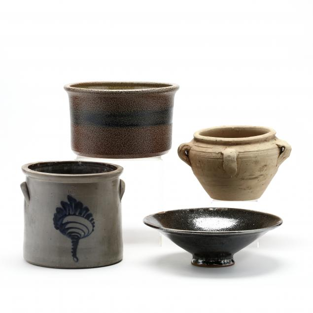 group-of-four-pottery-vessels