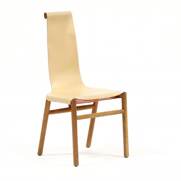 custom-wood-and-leather-armless-chair