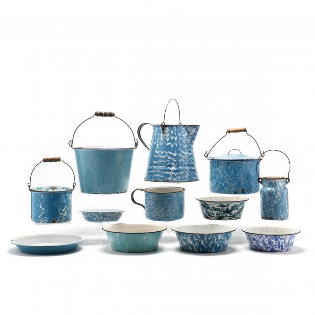 a-group-of-twelve-blue-graniteware
