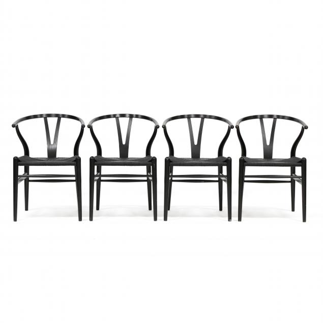 hans-wegner-danish-1914-2007-set-of-four-ch24-wishbone-chairs