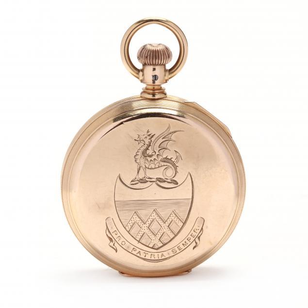antique-18kt-gold-hunter-case-pocket-watch-american-watch-co