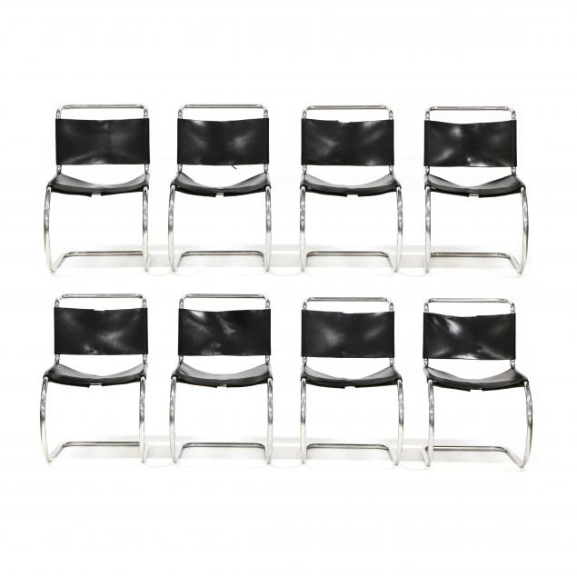 ludwig-mies-van-der-rohe-german-1886-1966-eight-mr-leather-chairs