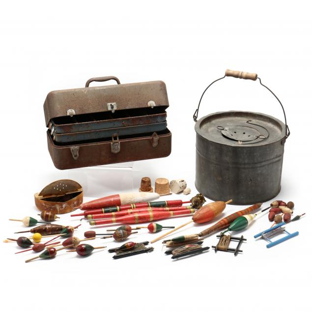 a-collection-of-vintage-fishing-items