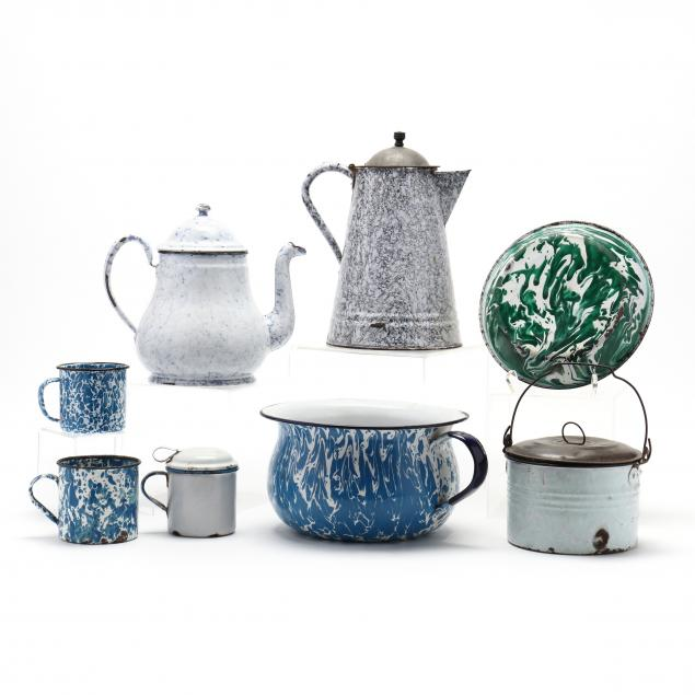 a-group-of-eight-graniteware-with-bob-timberlake-mark