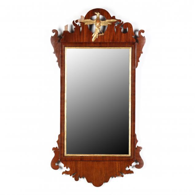 chippendale-carved-and-gilt-inlaid-mahogany-wall-mirror