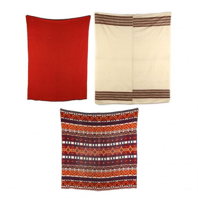 three-vintage-homespun-wool-blankets