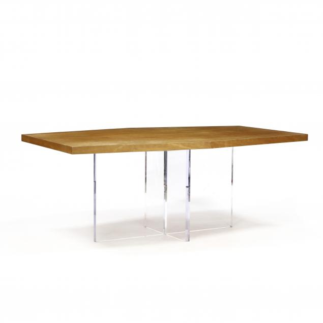 custom-walnut-and-lucite-dining-table