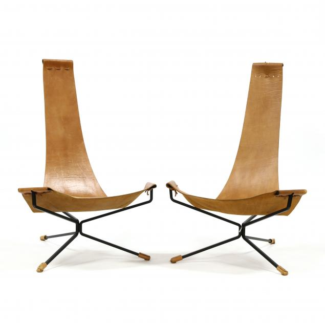 pair-of-custom-iron-and-leather-sling-chairs