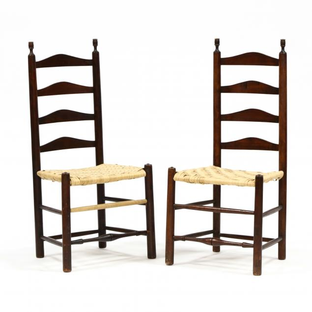 pair-of-american-finial-post-ladderback-side-chairs