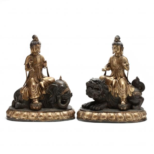 a-pair-of-chinese-gilt-and-patinated-bronze-bodhisattvas