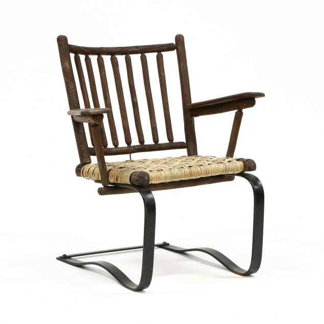 unusual-old-hickory-glider-armchair