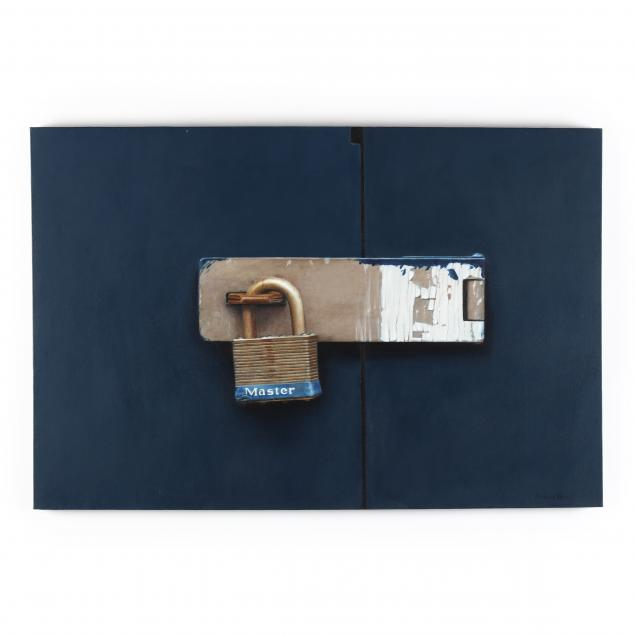 richard-wood-american-1952-2009-i-blue-door-with-painted-lock-i