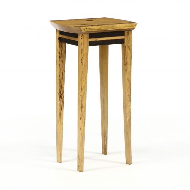keith-allen-va-b-1945-spalted-hickory-side-table