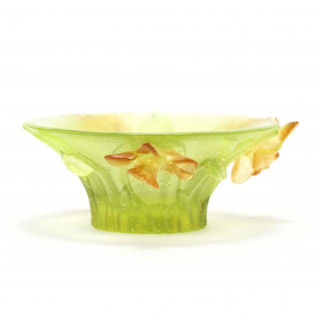 daum-pate-de-verre-daffodil-cabinet-bowl