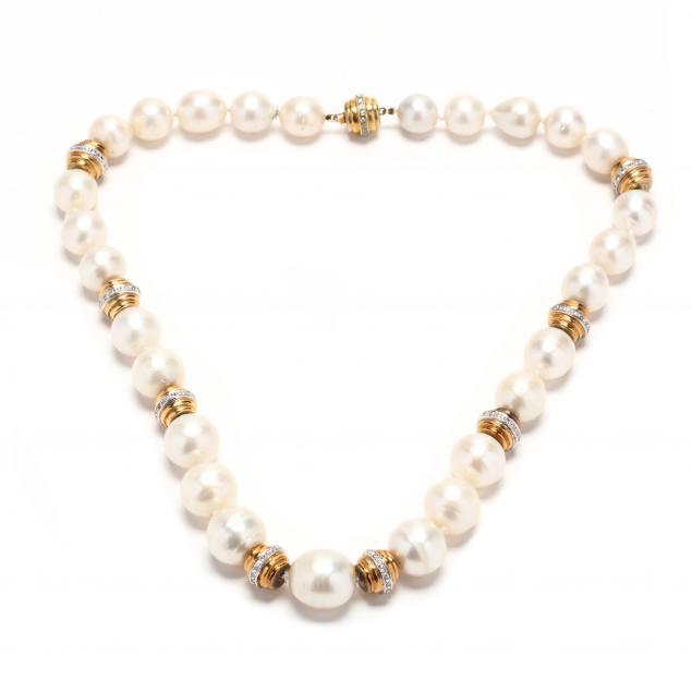 14kt-gold-diamond-and-pearl-strand-necklace