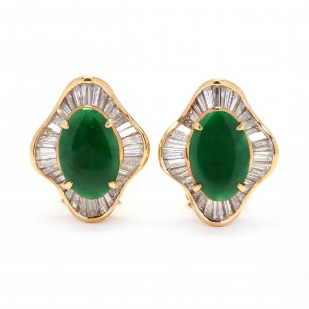 18kt-gold-jadeite-and-diamond-earrings