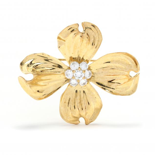 18kt-gold-and-diamond-dogwood-brooch-fisher-co