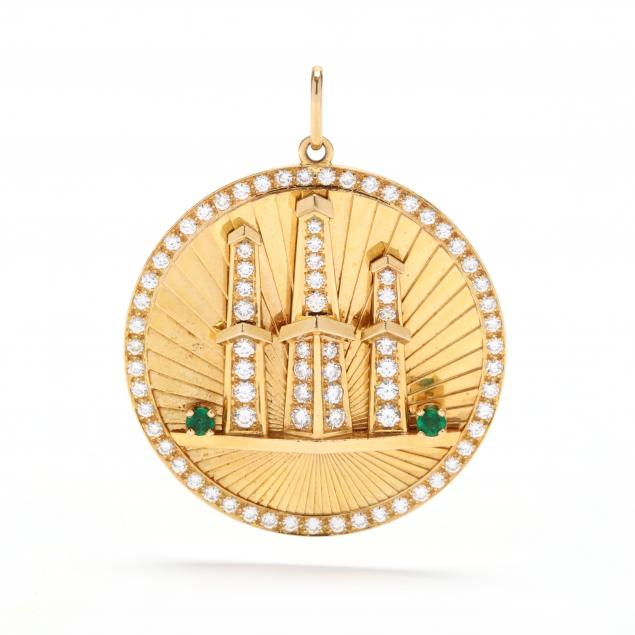 18kt-gold-emerald-and-diamond-oil-well-pendant
