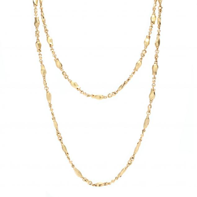 18kt-gold-tulip-chain-necklace-georg-jensen