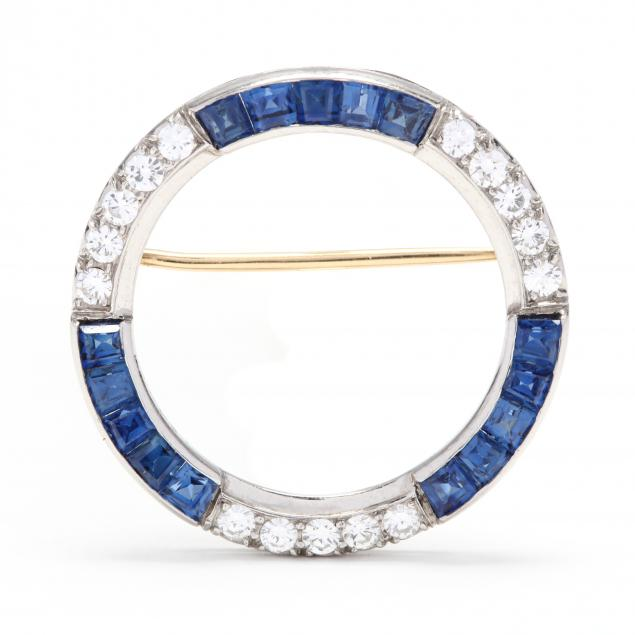 platinum-sapphire-and-diamond-circle-brooch-tiffany-co