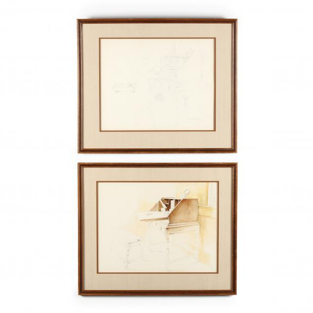 robert-b-dance-nc-b-1934-a-pair-of-studies-on-paper