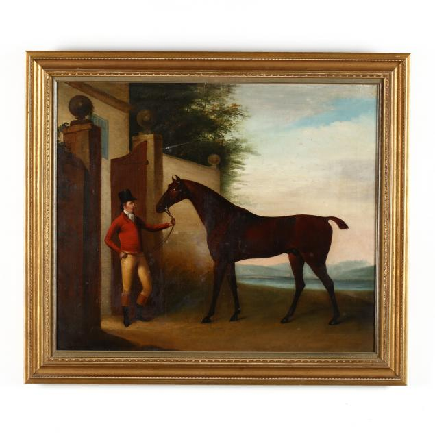 an-antique-english-school-portrait-of-a-horse-and-rider