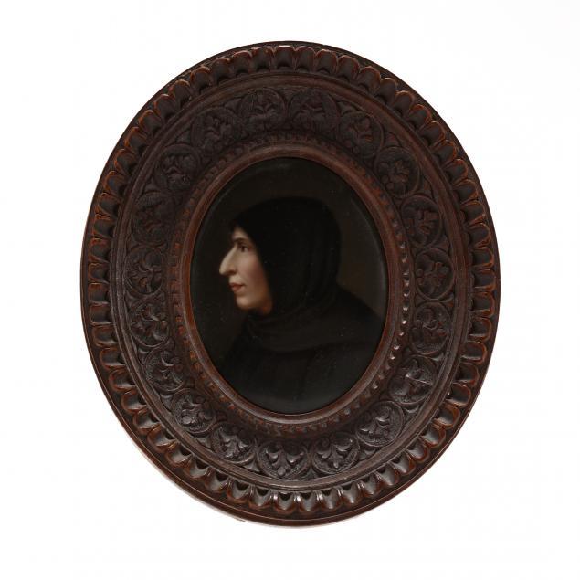 antique-porcelain-portrait-plaque-of-savonarola