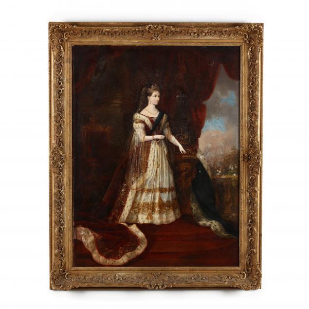 antique-portrait-of-a-young-queen-victoria