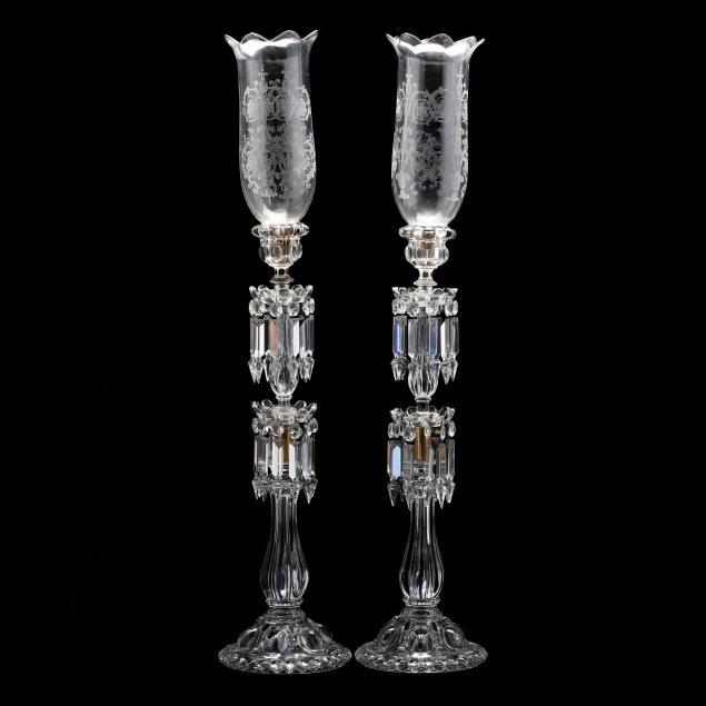 baccarat-pair-of-tall-drop-prism-mantel-lusters