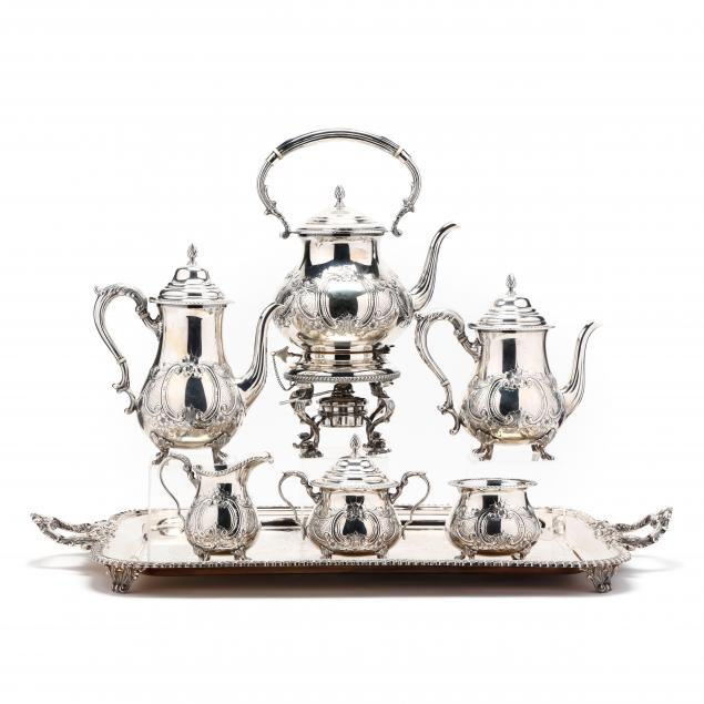 six-piece-sterling-silver-tea-and-coffee-service-with-tray