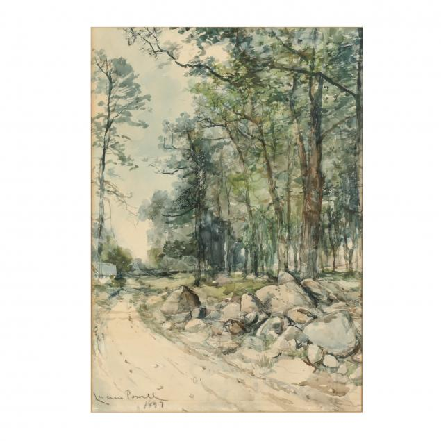 lucien-powell-dc-va-1846-1930-landscape-with-wooded-path