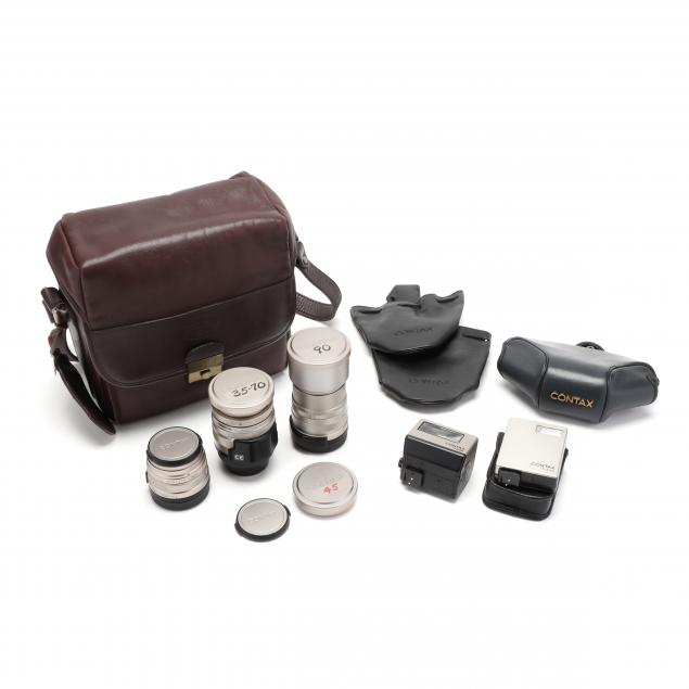 three-lenses-and-accessories-for-japanese-contax-g-1-and-g-2-cameras