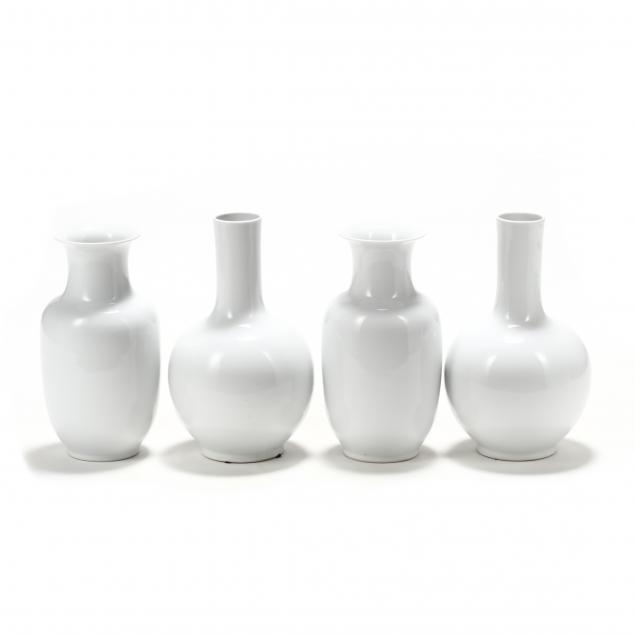 four-chinese-white-porcelain-vases