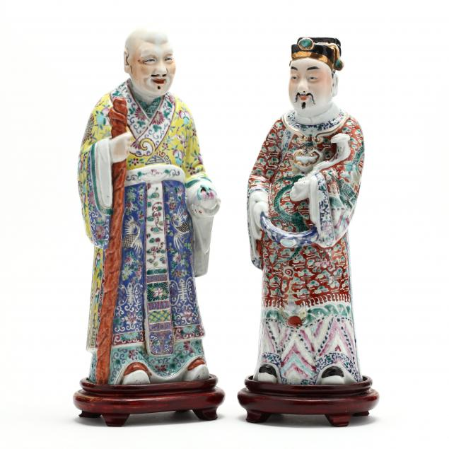 two-chinese-famille-rose-porcelain-figures