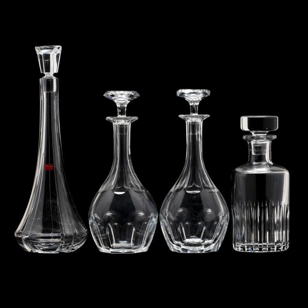 four-baccarat-crystal-decanters