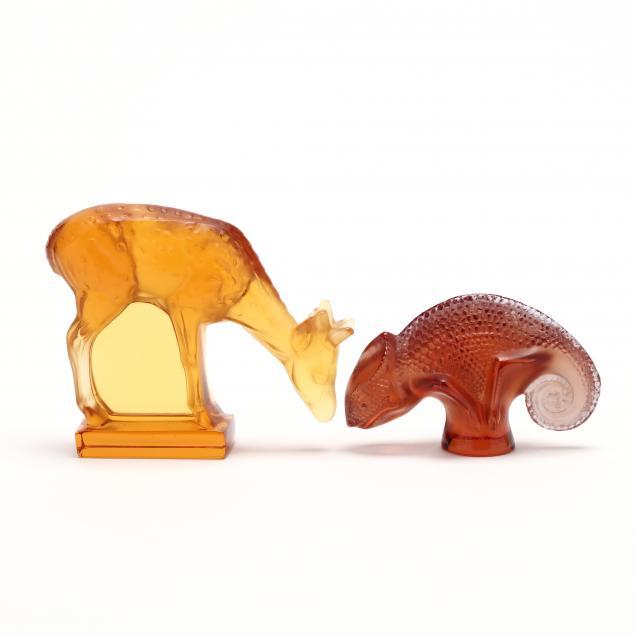 lalique-crystal-deer-and-chameleon