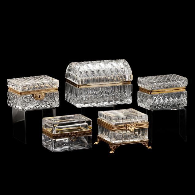 five-french-crystal-dresser-boxes