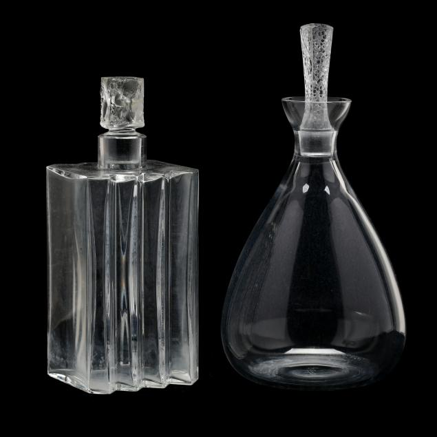 lalique-two-crystal-decanters