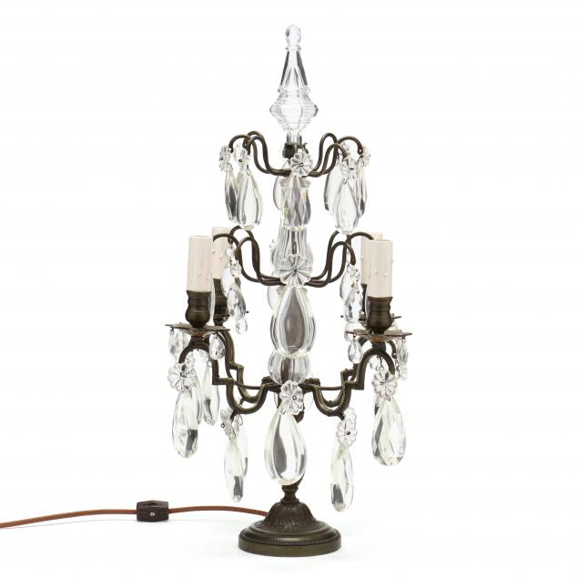 spanish-style-bronze-and-drop-prism-table-lamp