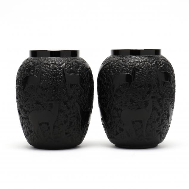 lalique-pair-of-i-biches-i-crystal-noire-vases