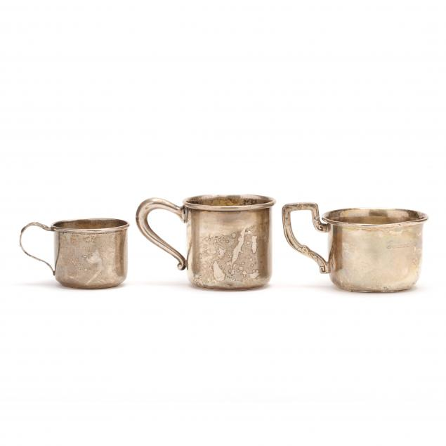 three-sterling-silver-child-cups