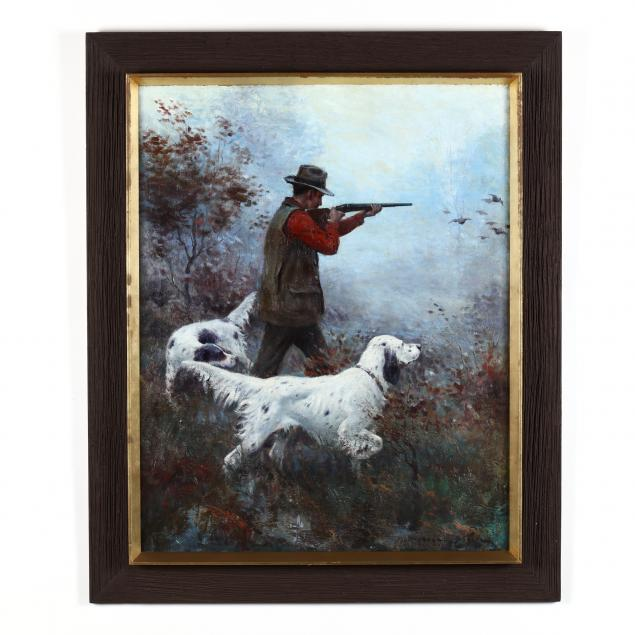 frank-stick-american-1884-1966-a-hunter-with-two-english-setters