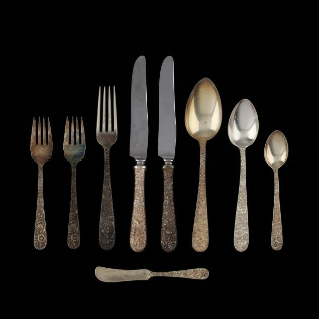 a-grouping-of-s-kirk-son-repousse-sterling-silver-flatware