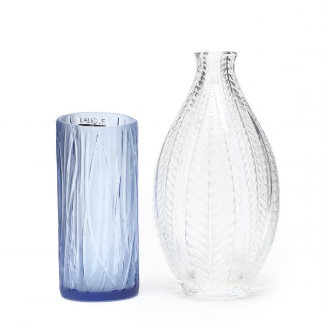 lalique-two-crystal-vases