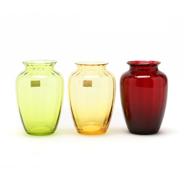 three-baccarat-colored-crystal-cabinet-vases