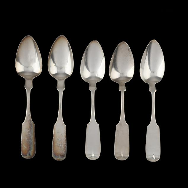 a-set-of-five-american-coin-silver-tablespoons